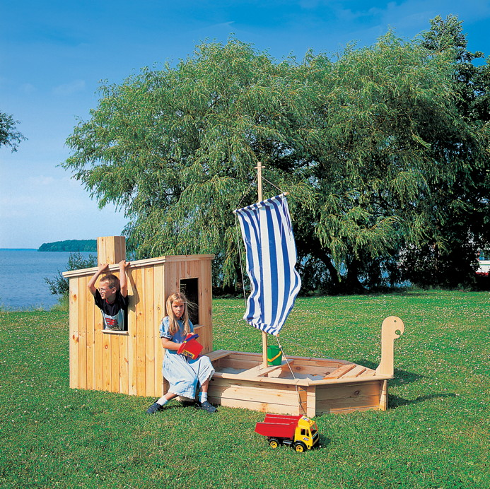sandkasten holz schiff promadino st rtebecker sandkasten mit segel und kaj te 4012379090106 ebay. Black Bedroom Furniture Sets. Home Design Ideas