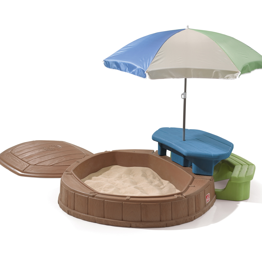 Sandkasten Step 2 «Play & Store» Sandkiste mit Deckel & Sitzecke