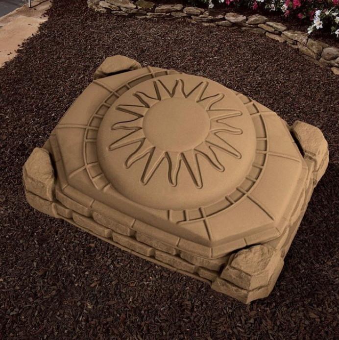 sandkasten step 2 border sandkiste mit deckel. Black Bedroom Furniture Sets. Home Design Ideas