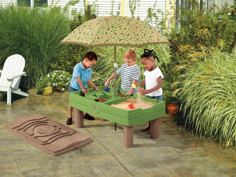 wasser sand spieltisch step 2 sand water wassertisch sandkasten sandtisch ebay. Black Bedroom Furniture Sets. Home Design Ideas