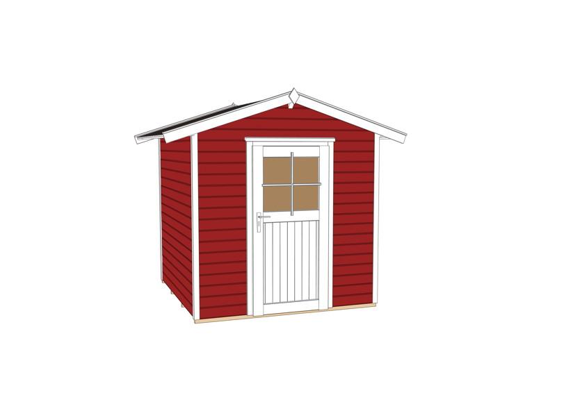 gartenhäuser holz rot