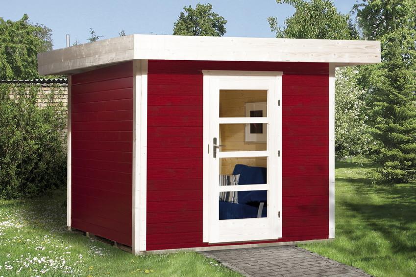 gartenhaus flachdach weka typ 172 mit einzelt r gr e 2. Black Bedroom Furniture Sets. Home Design Ideas