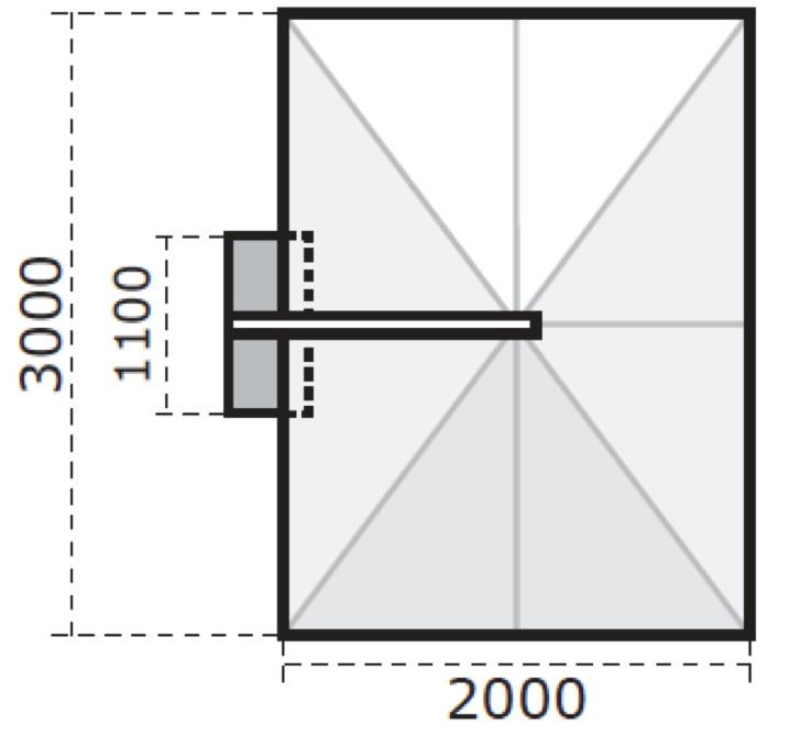 ampelschirm rechteckig 2x3m