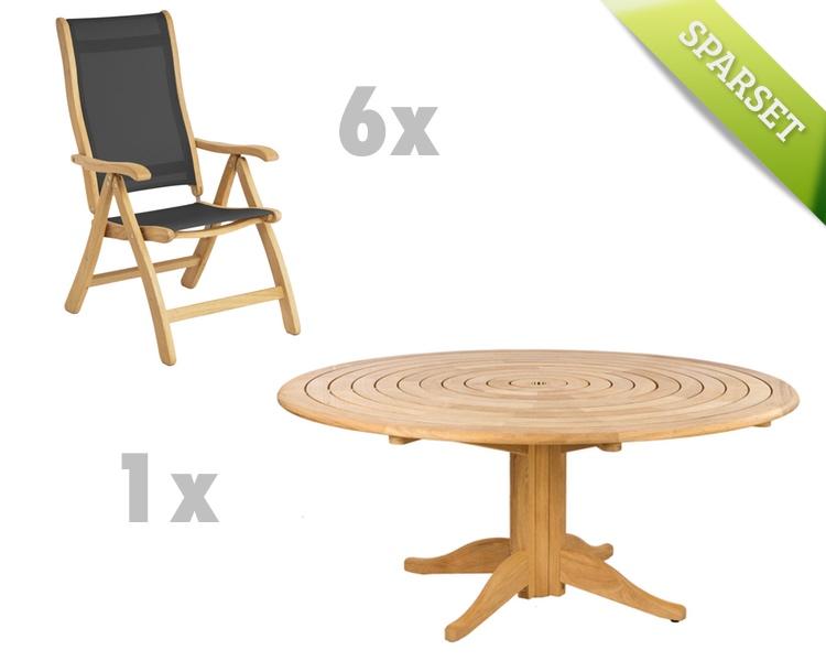 Sitzgruppe Alexander Rose «Roble Gartenmöbel Set 2» Holzmöbel | vom ...