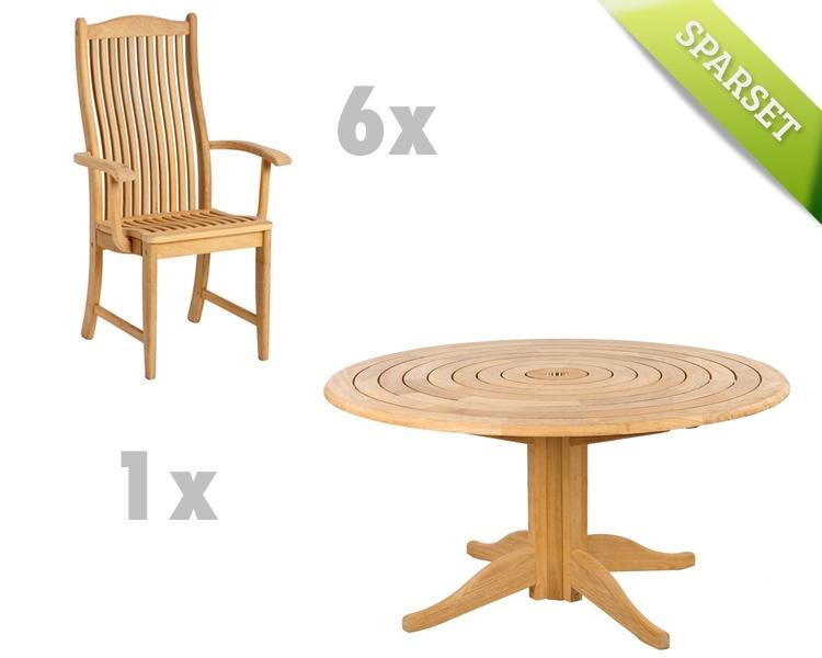 Sitzgruppe Alexander Rose «Roble Gartenmöbel Set 3» Holzmöbel ...