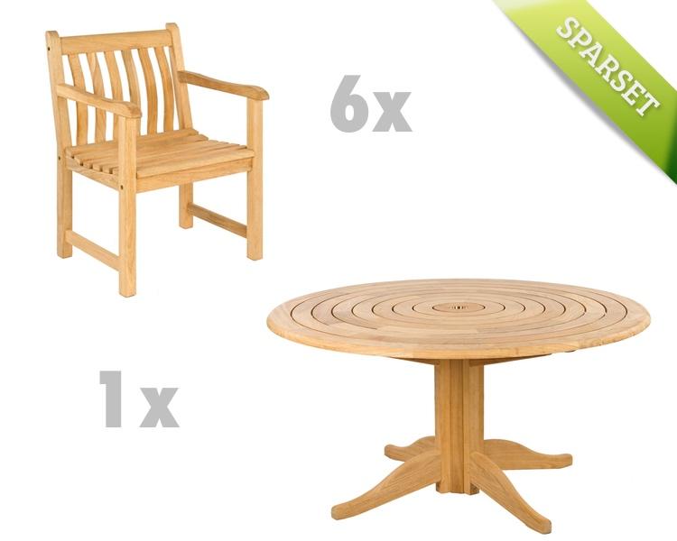 sitzgruppe alexander rose roble gartenm bel set 4 holzm bel kaufen holz garten. Black Bedroom Furniture Sets. Home Design Ideas