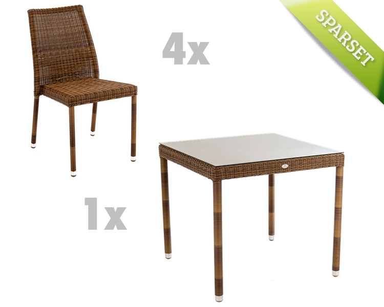 Sitzgruppe Alexander Rose «San Marino Gartenmöbel Set 7» Korbmöbel ...