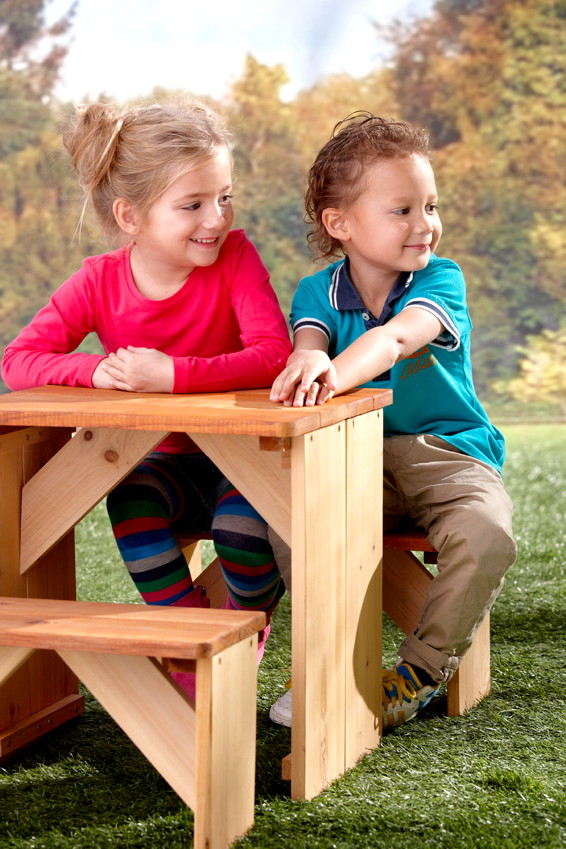 kinder picknickbank axi zidzed kinderbank holz sitzgruppe vom garten fachh ndler. Black Bedroom Furniture Sets. Home Design Ideas