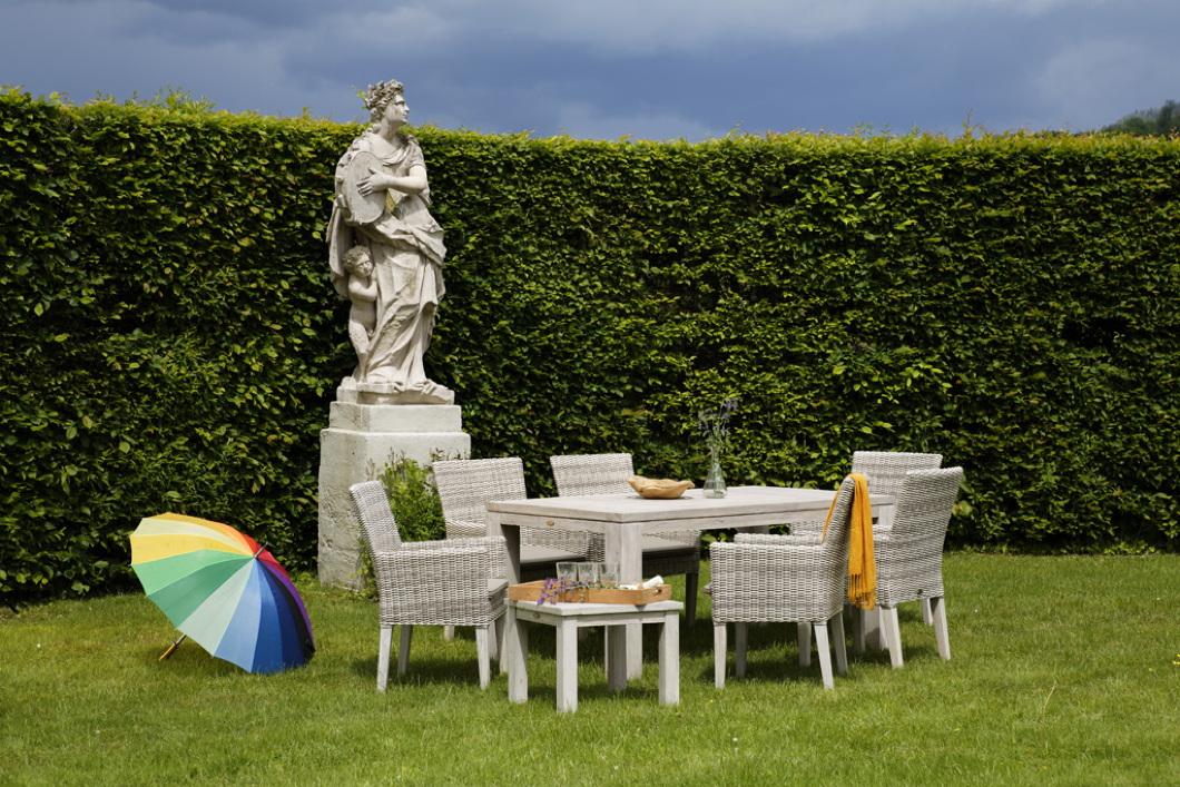 Teak Gartenmobel Reparieren : Gartentisch DIAMOND GARDEN «Chateau Esstisch 180×100 seawash