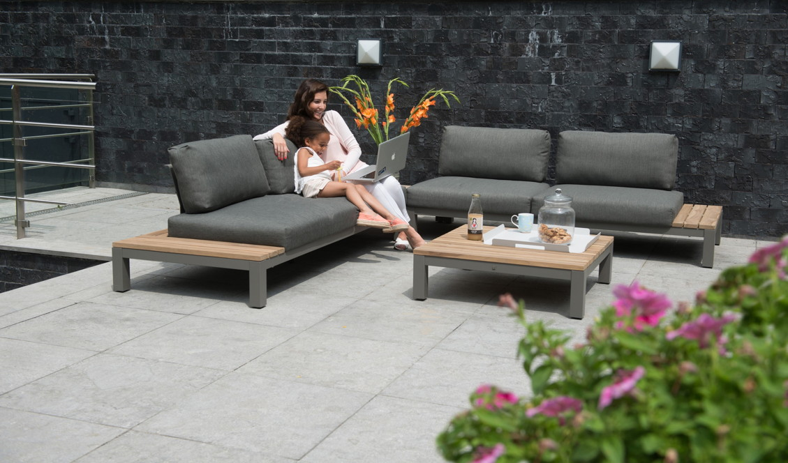 sitzgruppe 4seasons fidji gartenm belset loungeset teakholz inkl kissen gartenm bel fachhandel. Black Bedroom Furniture Sets. Home Design Ideas