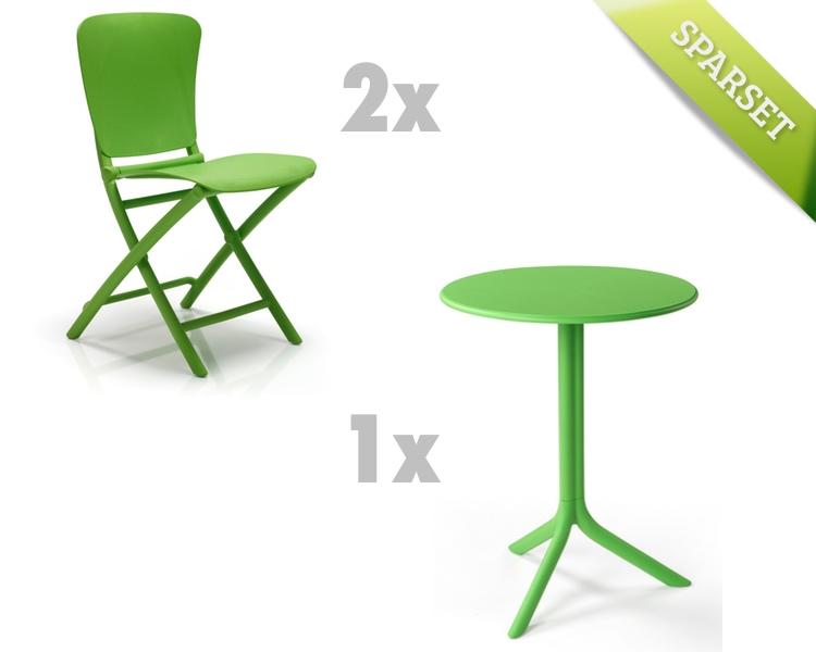 Gartenmöbel Set NARDI «Zac-Spritz grün Set 2» Sitzgruppe Balkonmöbel ...
