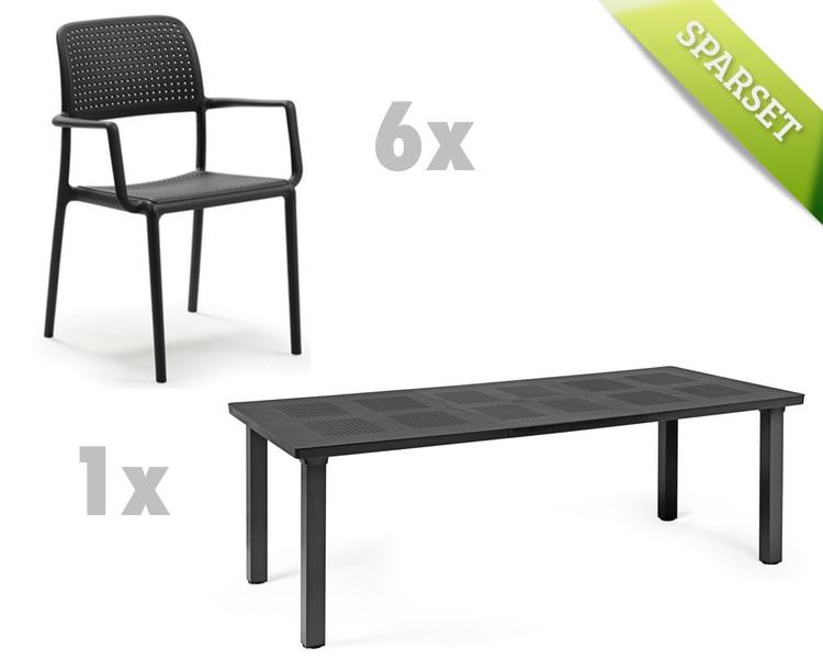 Gartenmöbel Set NARDI «Bora Levante anthrazit Set 2» Sitzgruppe ...