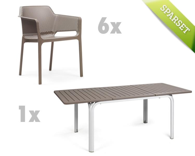 gartenm bel set nardi net alloro taupe set 1 sitzgruppe gartenm bel fachhandel. Black Bedroom Furniture Sets. Home Design Ideas