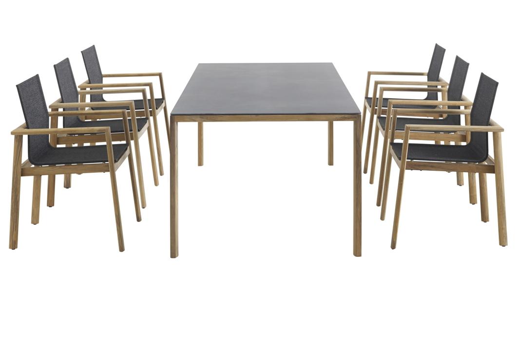 sitzgruppe solpuri safari gartenm bel set 1 teakholz textilene gartenm bel fachhandel. Black Bedroom Furniture Sets. Home Design Ideas