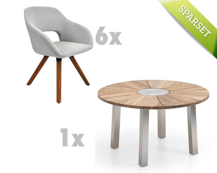 sitzgruppe niehoff nexor nizza stativstuhl grau gartenm ebel set 8 gartenm bel fachhandel. Black Bedroom Furniture Sets. Home Design Ideas