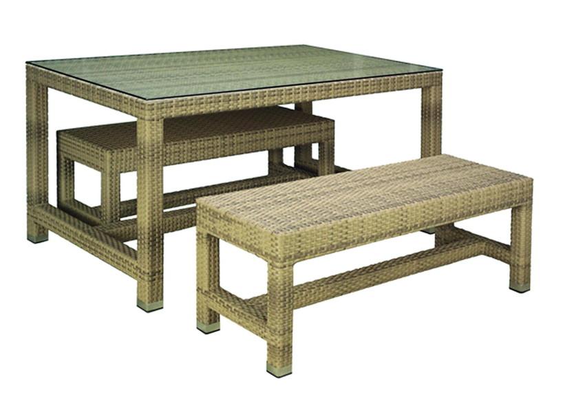 gartenbank kunststoff geflochten 205552. Black Bedroom Furniture Sets. Home Design Ideas