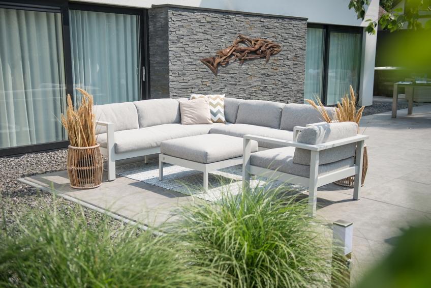 gartenbank 4seasons galaxy 3er sofa aluminium wetterfeste kissen gartenm bel fachhandel. Black Bedroom Furniture Sets. Home Design Ideas