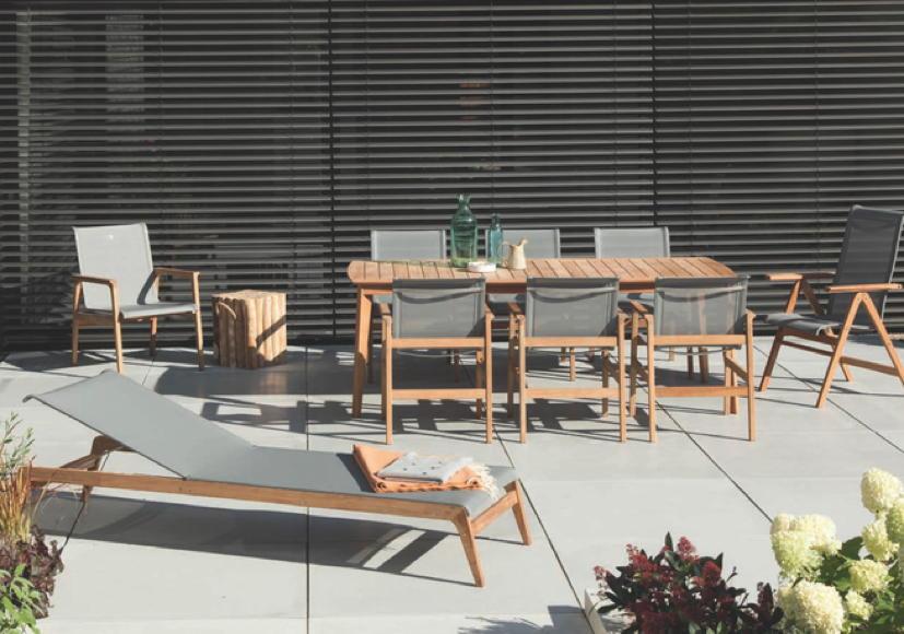 Gartenmobel Holz In Grau :  Queens Garden «Kent» Teakholz 220 x 100  Gartenmöbel Fachhandel