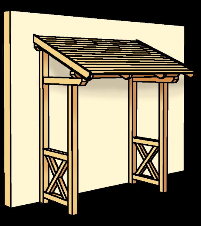 holz vordach skanholz paderborn f r haust ren pultdach holz vordach haust r gartenhaus. Black Bedroom Furniture Sets. Home Design Ideas
