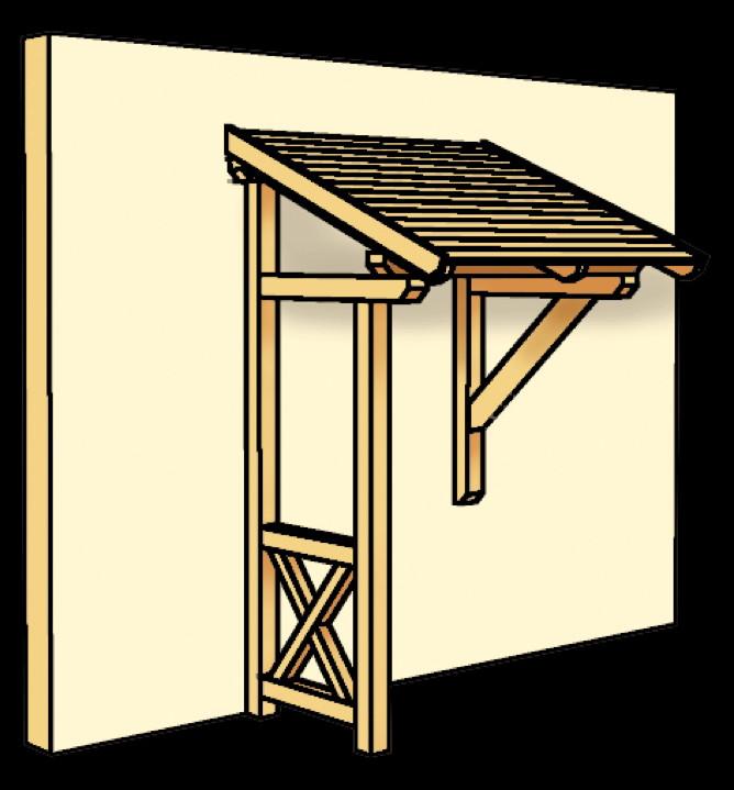 holz vordach skanholz potsdam f r haust ren pultdach holz vordach haust r gartenhaus. Black Bedroom Furniture Sets. Home Design Ideas
