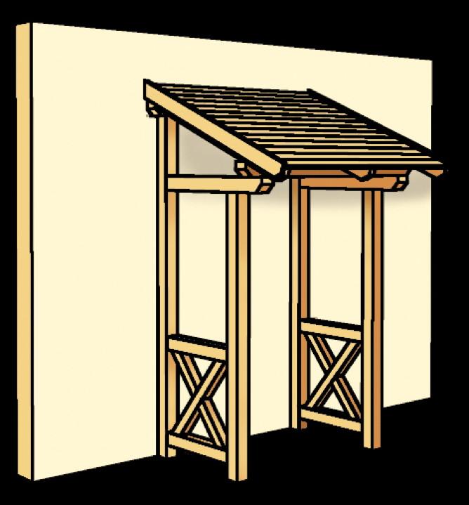 holz vordach skanholz potsdam f r haust ren pultdach holz angebot. Black Bedroom Furniture Sets. Home Design Ideas
