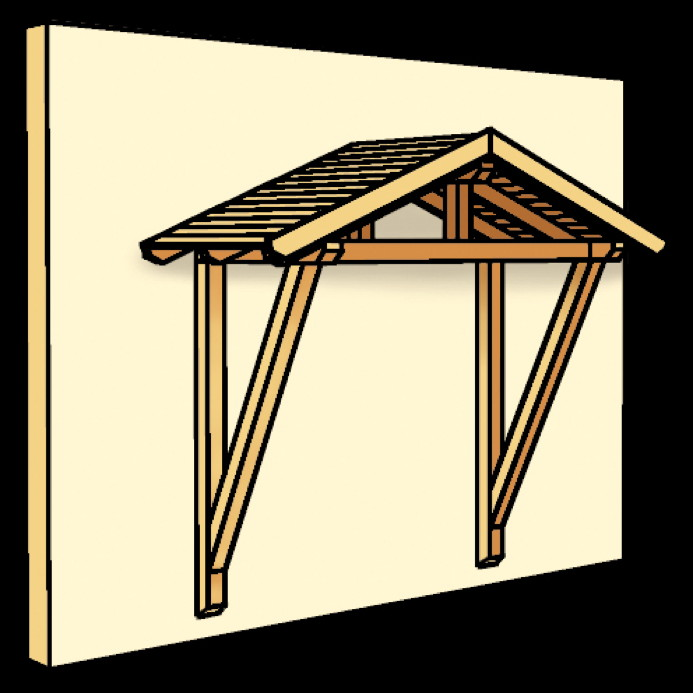 holz vordach skanholz stralsund f r haust ren satteldach holz vordach haust r gartenhaus. Black Bedroom Furniture Sets. Home Design Ideas