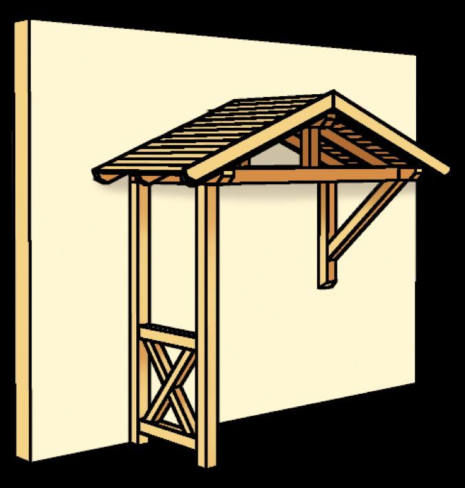 holz vordach skanholz stralsund f r haust ren satteldach. Black Bedroom Furniture Sets. Home Design Ideas
