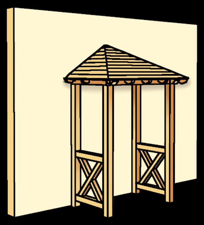holz vordach skanholz wesel f r haust ren walmdach. Black Bedroom Furniture Sets. Home Design Ideas