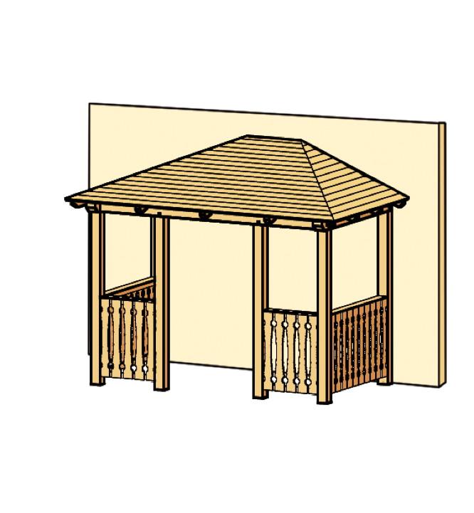 holz-vordach skanholz «wismar für doppeltüren» haustür-walmdach,