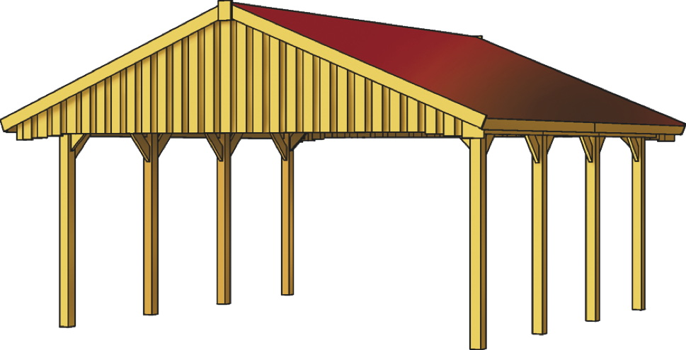 holz carport skanholz sauerland satteldach doppelcarport. Black Bedroom Furniture Sets. Home Design Ideas