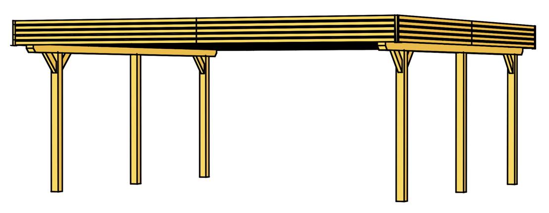 holz carport skanholz spessart flachdach doppelcarport holz angebot. Black Bedroom Furniture Sets. Home Design Ideas