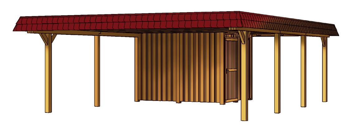 holz carport skanholz wendland walmdach doppelcarport. Black Bedroom Furniture Sets. Home Design Ideas