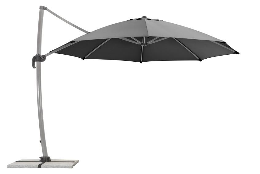 sonnenschirm schneider rhodos rondo 350cm anthrazit. Black Bedroom Furniture Sets. Home Design Ideas
