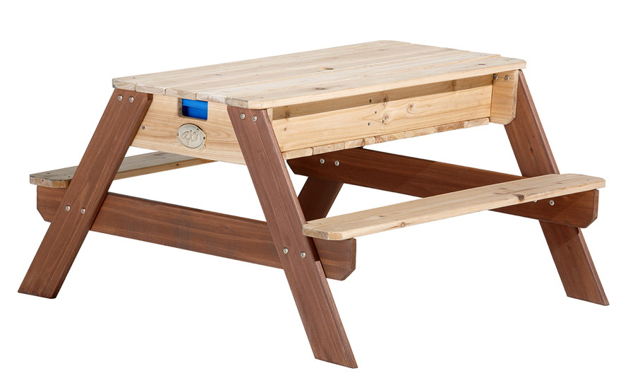 sitzgruppe holz axi nick picknicktisch u wasser spieltisch holz sitzgruppe vom spielger te. Black Bedroom Furniture Sets. Home Design Ideas