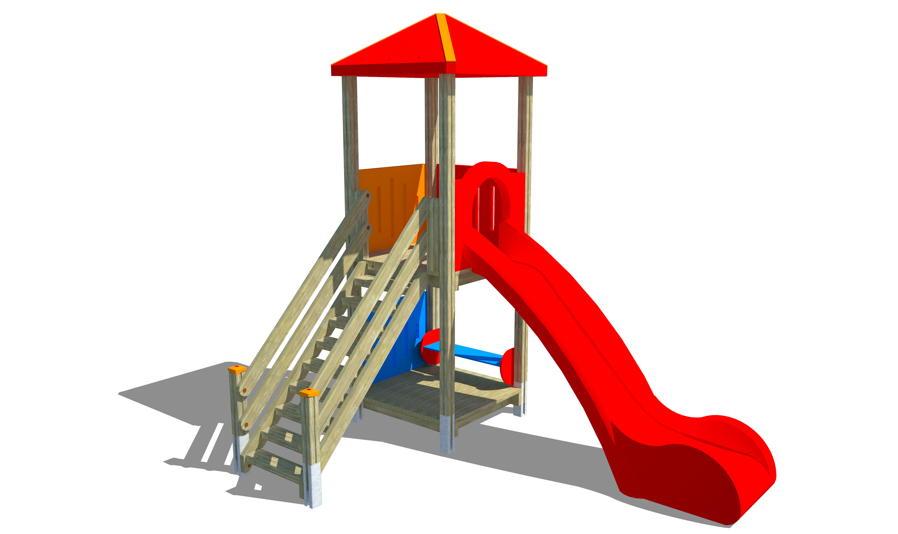 spielturm din en 1176 max kletterturm mit rutsche. Black Bedroom Furniture Sets. Home Design Ideas