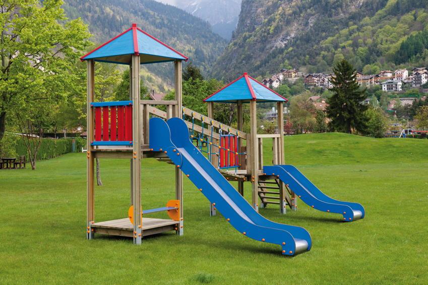 spielturm din en 1176 max holz kletterturm mit br cke rutsche vom spielger te fachh ndler. Black Bedroom Furniture Sets. Home Design Ideas