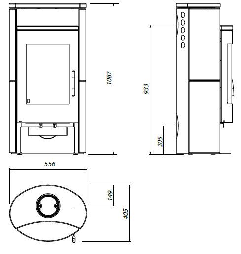 kamin ofen olsberg k nigsh tte auriga 5kw stahlkamin natursteinverkleidung ebay. Black Bedroom Furniture Sets. Home Design Ideas