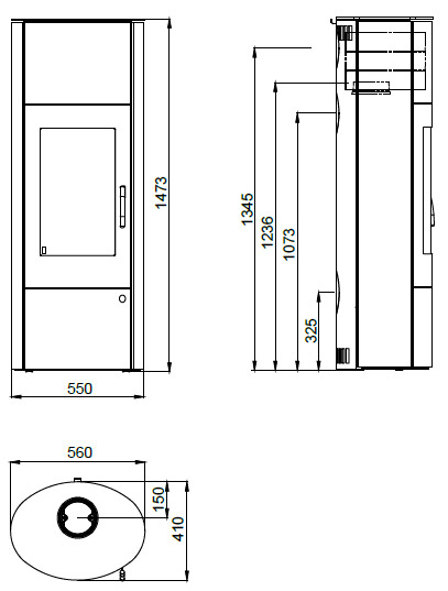design kamin ofen olsberg k nigsh tte dorado ebony stahlkamin ebay. Black Bedroom Furniture Sets. Home Design Ideas