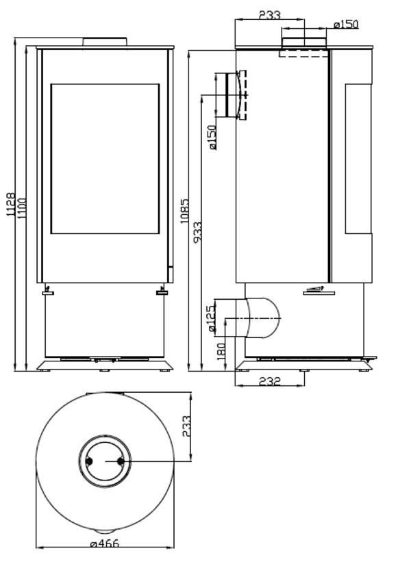 design kamin ofen olsberg k nigsh tte virgo schwarz stahlkamin ebay. Black Bedroom Furniture Sets. Home Design Ideas