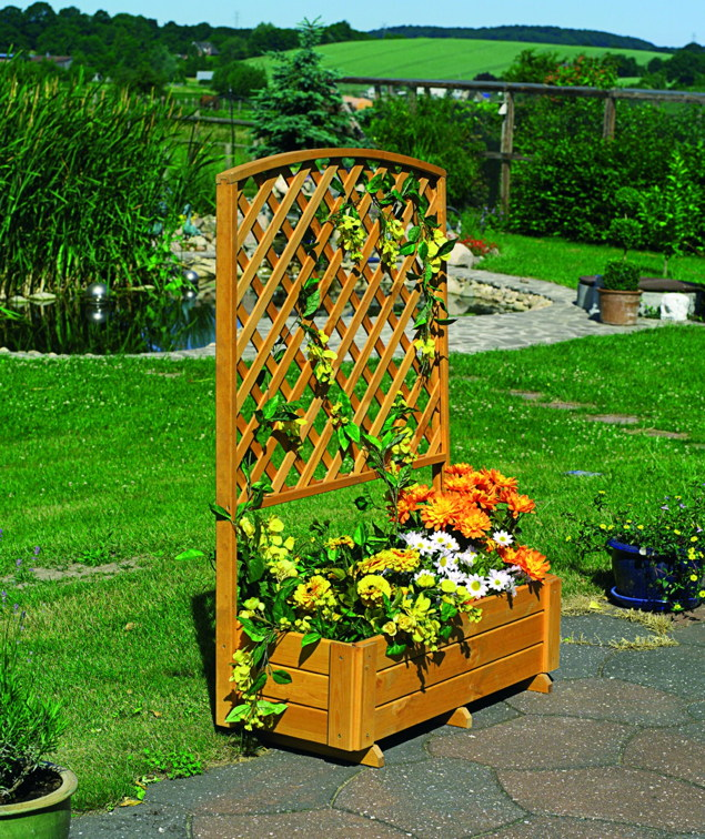 blumenkasten promadino rankkasten flora rankhilfe pflanzk bel aus holz holz angebot. Black Bedroom Furniture Sets. Home Design Ideas