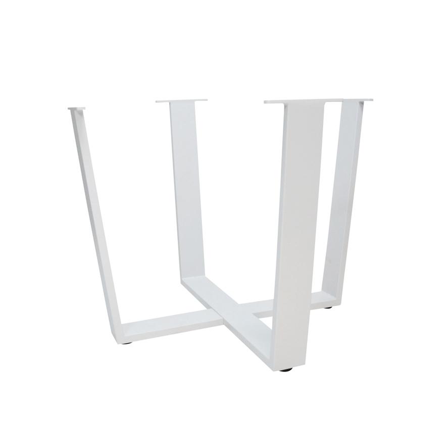 tischbeine 4seasons cricket aluminiumbeine weiss beine f r tisch rund gartenm bel fachhandel. Black Bedroom Furniture Sets. Home Design Ideas