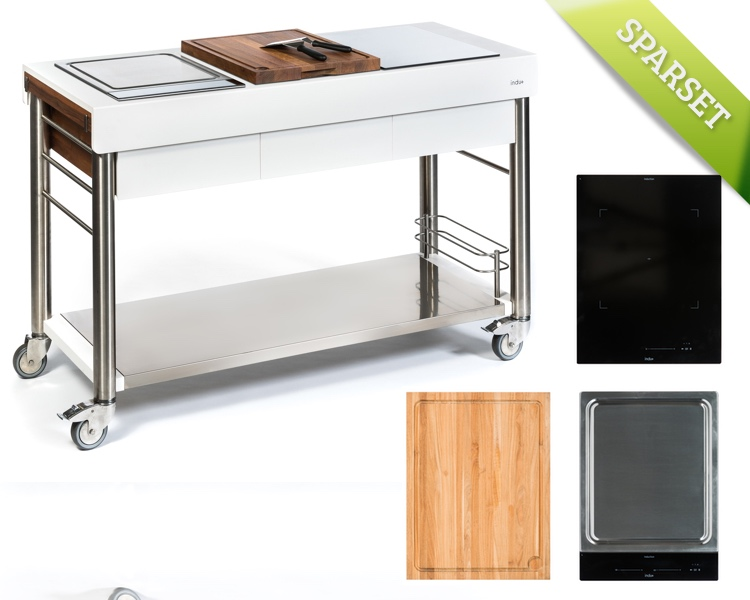 Outdoorküche INDU+ «ServeBoy weiss Ultimo +One Zone + Teppanyaki 380 ...