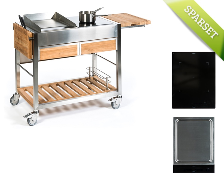 Outdoorküche INDU+ «TomBoy Teak Duo + One Zone + Teppanyaki 380 ...