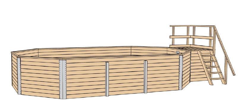 Holzpool weka korfu schwimmbecken aus holz for Aufstellpool aus holz
