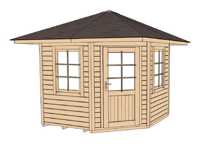 5 eck gartenhaus weka mediterrana gr e 1 ebay. Black Bedroom Furniture Sets. Home Design Ideas