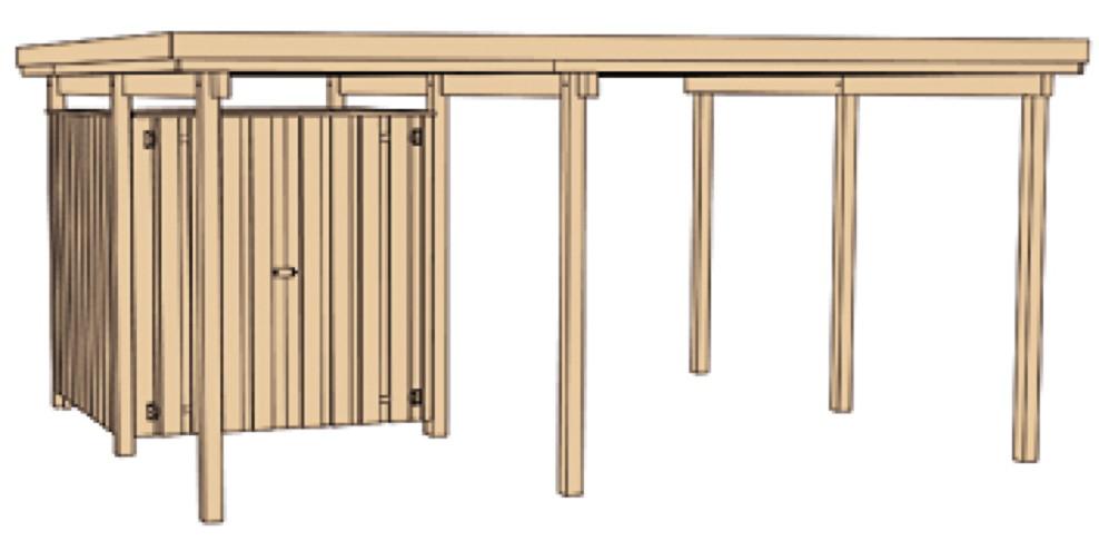holz carport bausatz weka plus einzelcarport carports. Black Bedroom Furniture Sets. Home Design Ideas