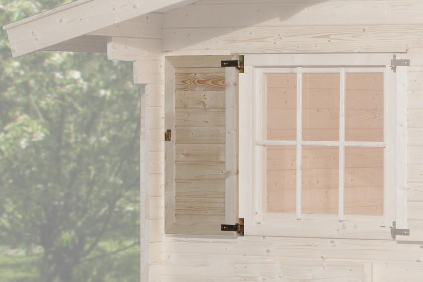 weka fensterladen einseitig f r einzelfenster holz. Black Bedroom Furniture Sets. Home Design Ideas