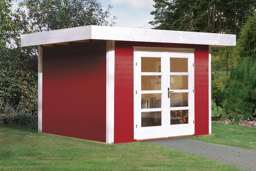 gartenhaus flachdach weka designhaus 126 gr e 1 new. Black Bedroom Furniture Sets. Home Design Ideas