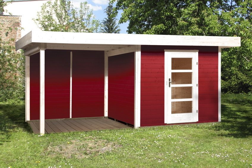 gartenhaus flachdach lounge gr e 2 weka typ 172 mit. Black Bedroom Furniture Sets. Home Design Ideas