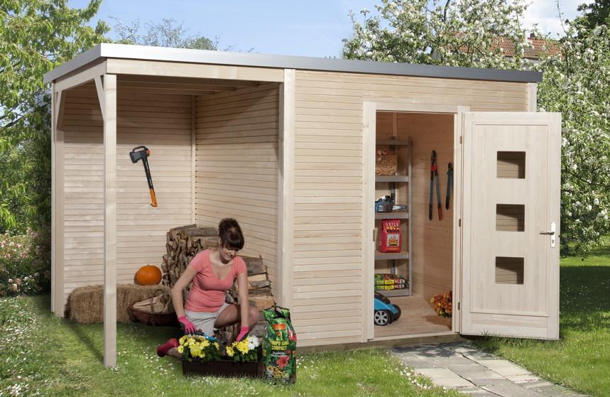 gartenhaus flachdach designhaus wekaline 413. Black Bedroom Furniture Sets. Home Design Ideas